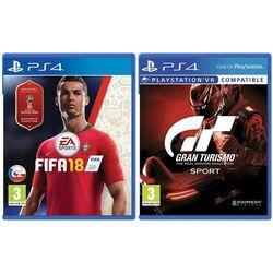 FIFA 18 CZ [PS4] + Gran Turismo Sport CZ [PS4] - BAZÁR (použitý tovar) zmluvná záruka 12 mesiacov na pgs.sk