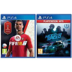 FIFA 18 CZ [PS4] + Need for Speed [PS4] - BAZÁR (použitý tovar) zmluvná záruka 12 mesiacov na progamingshop.sk