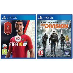 FIFA 18 CZ [PS4] + Tom Clancy's The Division [PS4] - BAZÁR (použitý tovar) zmluvná záruka 12 mesiacov na progamingshop.sk