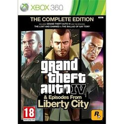 Grand Theft Auto 4 & Episodes from Liberty City (The Complete Edition)- XBOX 360- BAZÁR (použitý tovar) na pgs.sk