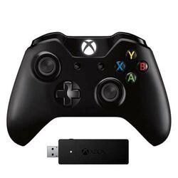 Microsoft Xbox One S Wireless Controller, black + Microsoft Xbox One Wireless Adapter for Windows - OPENBOX  na progamingshop.sk