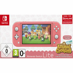 Nintendo Switch Lite, coral + Animal Crossing: New Horizons + trojmesačné predplatné služby Nintendo Switch Online na progamingshop.sk