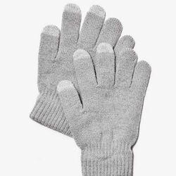 Rukavice na ovládanie dotykového displeja, šedé na pgs.sk