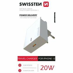 Rýchlonabíjačka Swissten Power Delivery 20W s 1x USB-C pre iPhone 12, biela na pgs.sk