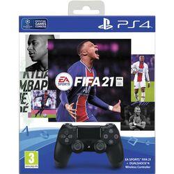 Sony DualShock 4 Wireless Controller v2, jet black + FIFA 21 CZ na progamingshop.sk