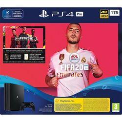 Sony PlayStation 4 Pro 1TB, jet black + FIFA 20 CZ + PS Plus 14 dní na pgs.sk