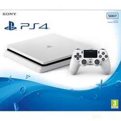 Sony PlayStation 4 Slim 500GB, glacier white - BAZÁR (použitý tovar , zmluvná záruka 12 mesiacov) na pgs.sk