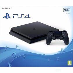 Sony PlayStation 4 Slim 500GB, jet black - BAZÁR (použitý tovar , zmluvná záruka 12 mesiacov) na progamingshop.sk