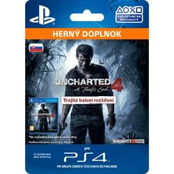 Uncharted 4: A Thief's End CZ (SK Triple Pack Expansion) na pgs.sk