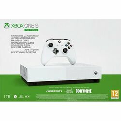 Xbox One S 1TB All-Digital + Fortnite + Minecraft + Sea of Thieves na progamingshop.sk