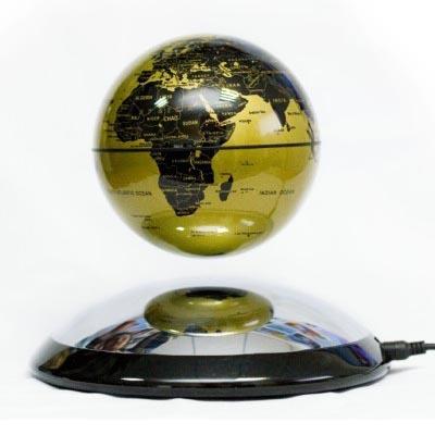 Levitujúce magnetické glóbusy