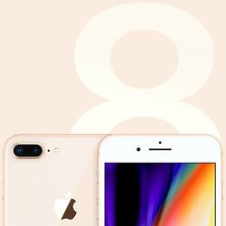 Apple iPhone 8 Plus, 64GB, Gold