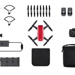 DJI Spark, Fly More Combo, Lava RED - DJIS0203C