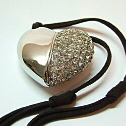 KeyT - Crystal Heart USB 4GB White