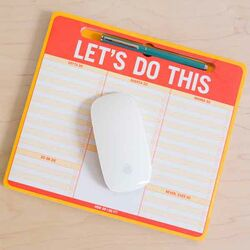 Knock Knock Mousepad Let's Do This Pen-to-Paper