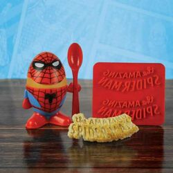Marvel Comics Egg Cup & Toast Cutter Spider-Man