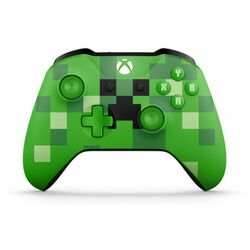Microsoft Xbox One S Wireless Controller, Minecraft Creeper