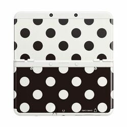 New Nintendo 3DS Cover Plates, black/white dots