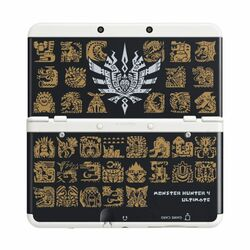 New Nintendo 3DS Cover Plates, Monster Hunter 4: Ultimate black