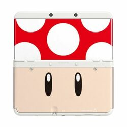New Nintendo 3DS Cover Plates, Toad red