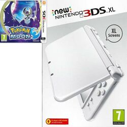 New Nintendo 3DS XL, pearl white + Pokémon Moon