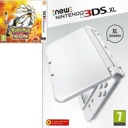 New Nintendo 3DS XL, pearl white + Pokémon Sun
