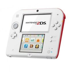Nintendo 2DS, white/red