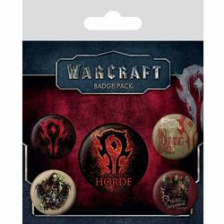 Odznaky WarCraft - The Horde (5-Pack)