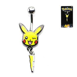 Pokémon Pikachu  and Lightning Bolt Navel Ring