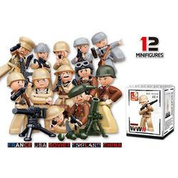 Sluban Soldiers Minifigure Showbox (WW2)