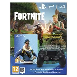 Sony DualShock 4 Wireless Controller v2, jet black + bonusový obsah do hry Fortnite na progamingshop.sk