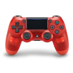Sony DualShock 4 Wireless Controller v2, translucent red