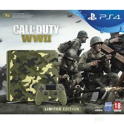 Sony PlayStation 4 Slim 1TB, green camo (Limited Edition) + Call of Duty: WW2 + That's You!