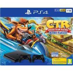 Sony PlayStation 4 Slim 1TB, jet black + Crash Team Racing + Sony DualShock 4 Wireless Controller v2, jet black na progamingshop.sk