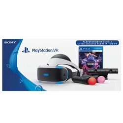 Sony PlayStation VR + Sony PlayStation 4 Camera + Sony PlayStation Move Twin Pack + VR Worlds