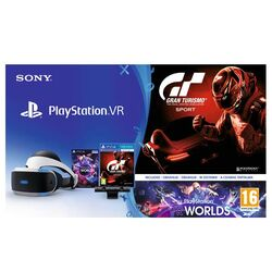 Sony PlayStation VR + Sony PlayStation 4 Camera + VR Worlds + Gran Turismo Sport CZ