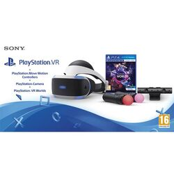 Sony PlayStation VR V2 + Sony PlayStation 4 Camera + Sony PlayStation Move Twin Pack + VR Worlds