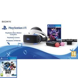 Sony PlayStation VR V2 + Sony PlayStation 4 Camera + Sony PlayStation Move Twin Pack + VR Worlds + Astro Bot Rescue Miss