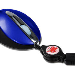 Speed-Link Retractable Colour Mouse Blue