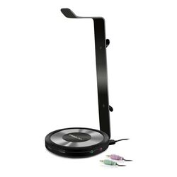 Stojan Speedlink Estrado Multifunctional Gaming Headset Stand with USB Hub - Sound Card Combination, black