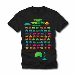 Trièko Space Invaders Multi Coloured, Xlarge