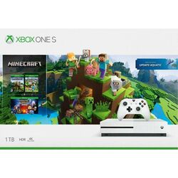 Xbox One S 1TB + Minecraft (Xbox One Edition Explorers Pack) + Minecraft: Story Mode (The Complete Adventure)