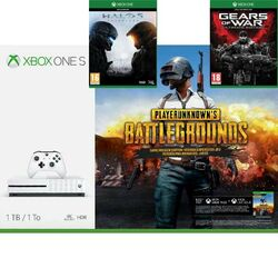 Xbox One S 1TB + PlayerUnknown's Battlegrounds (Game Preview Edition) + Halo 5: Guardians + Gears of War (Ultimate ed.)