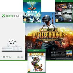 Xbox One S 1TB + PlayerUnknown's Battlegrounds (Game Preview Edition) + Steep + The Crew + Rare replay