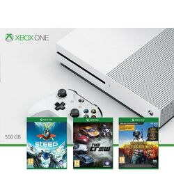 Xbox One S 500GB + Steep + The Crew + PlayerUnknown's Battlegrounds (Game Preview Edition)