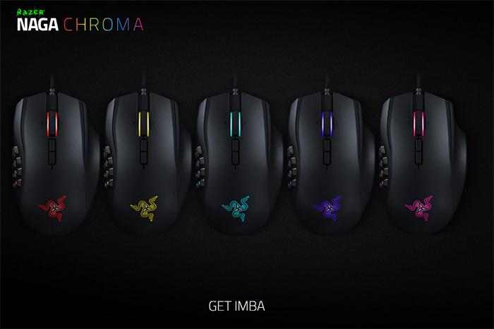 Razer Naga Chroma vícebarevná MMO Gaming Mouse