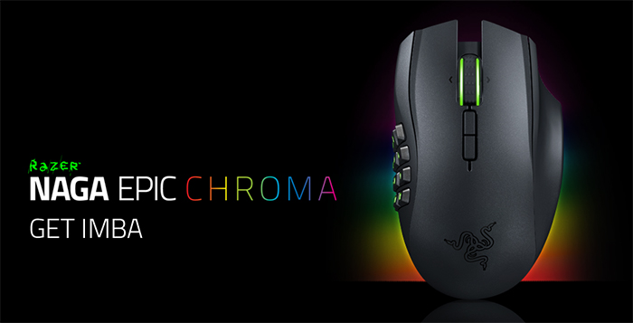 Razer Naga Epic Chroma Wired/Wireless MMO Gaming Mouse